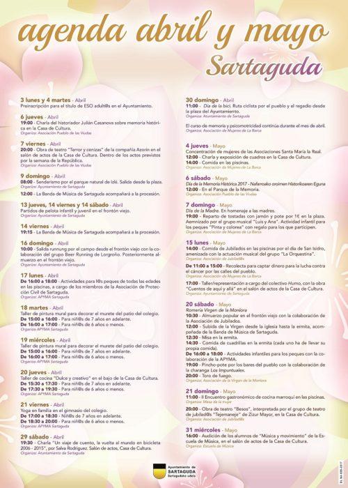 Cartel Agenda abril mayo A3 castellano